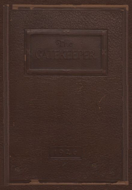 1926 St. Peter's High School Yearbook Cover