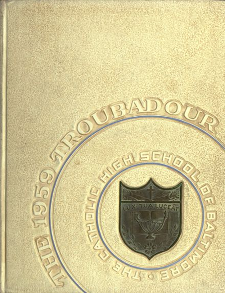1959 Catholic High School of Baltimore Yearbook Cover