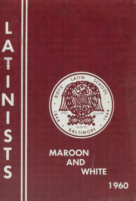 1960 Boys Latin School of Maryland Yearbook Cover