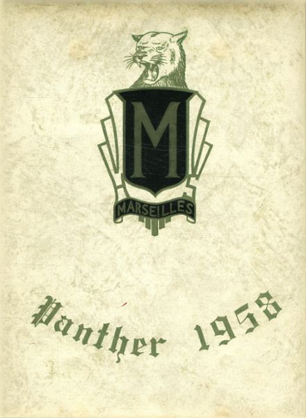 1958 Marseilles High School Yearbook Cover