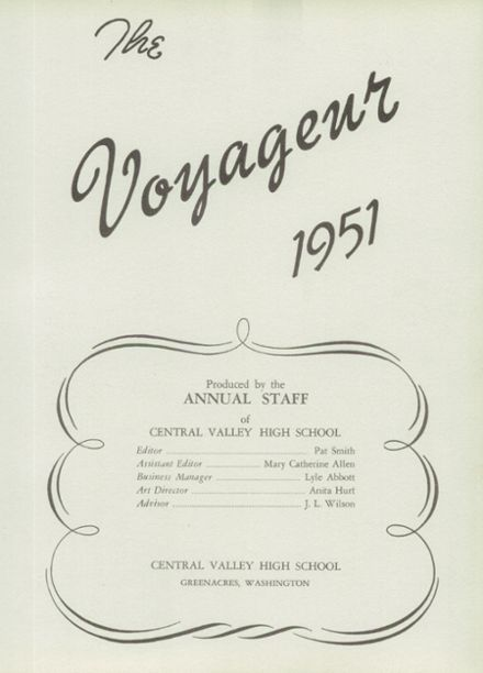 1951 Central Valley High School Yearbook Page 7