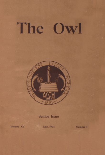 1935 Westminster High School Yearbook Cover