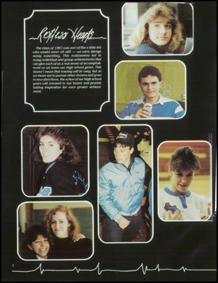 1987 Millville Area High School Yearbook Page 6