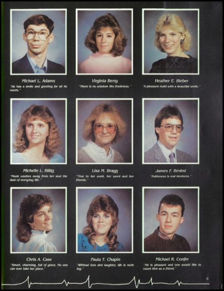 1987 Millville Area High School Yearbook Page 7