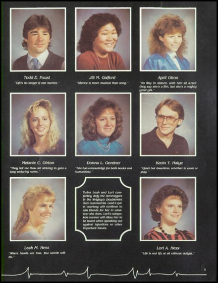 1987 Millville Area High School Yearbook Page 9