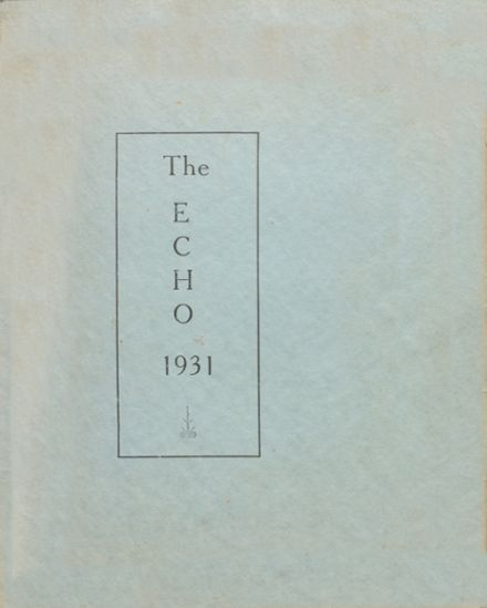 1931 Bratton Union Consolidat High School Yearbook Cover
