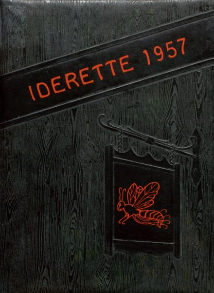 1957 Ider High School Yearbook Cover