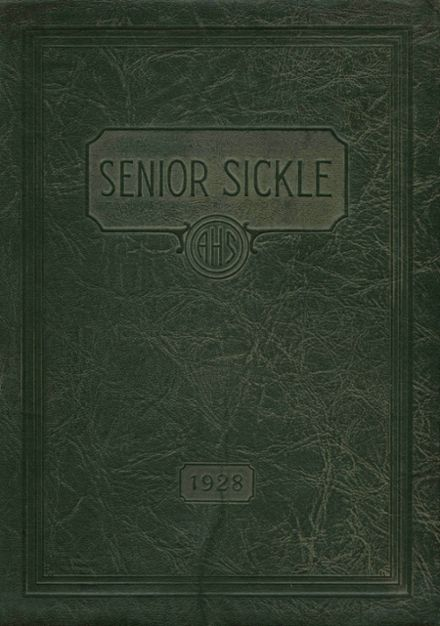 1928 Adrian High School Yearbook Cover