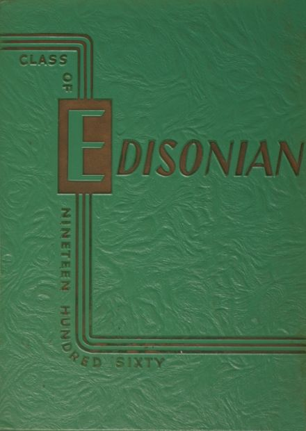 1960 Thomas A. Edison High School Yearbook Cover