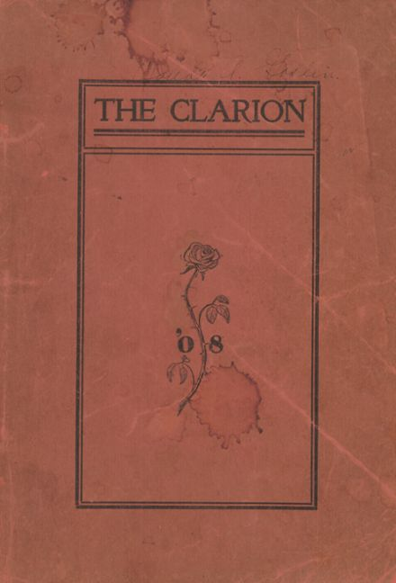 1908 Clarion High School Yearbook Cover