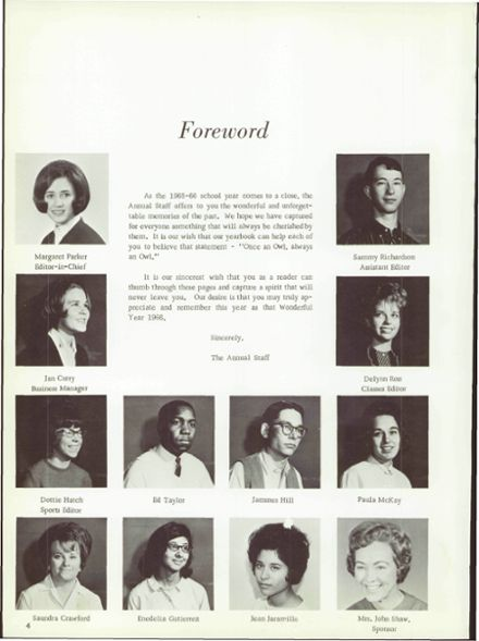 1966 Hale Center High School Yearbook Page 8