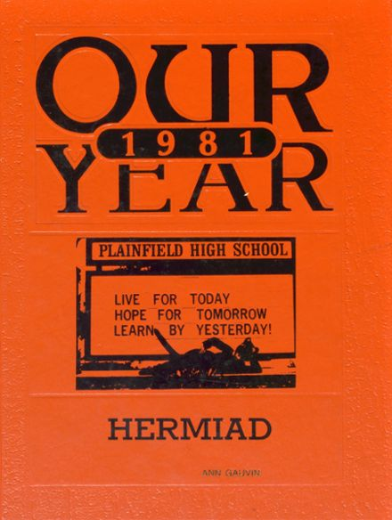 1981 Plainfield High School Yearbook Cover