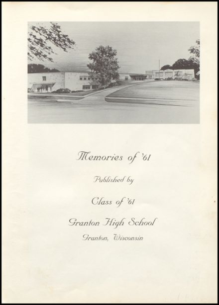 1961 Granton High School Yearbook Page 7