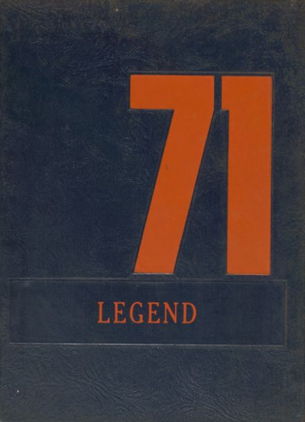 1971 West Snyder High School Yearbook Cover