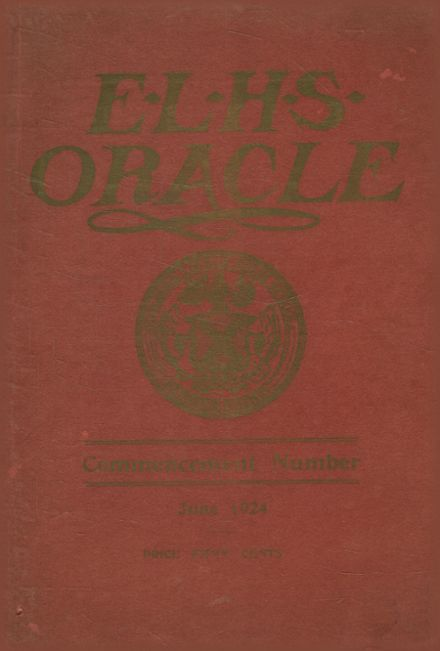 1924 Edward Little High School Yearbook Cover