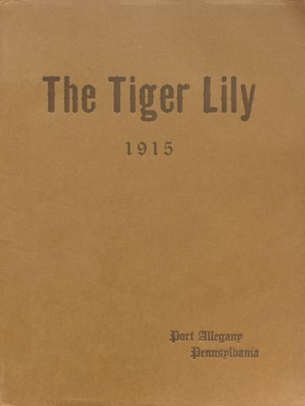 1915 Port Allegany High School Yearbook Cover