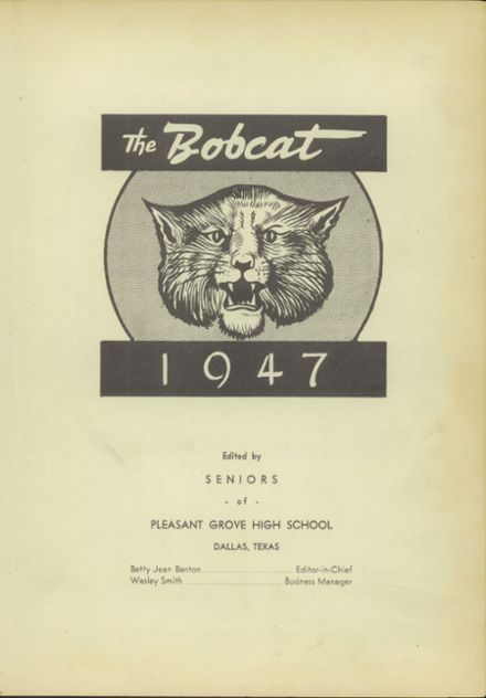 1947 Pleasant Grove High School Yearbook Page 7