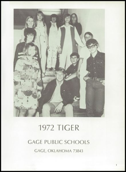 1972 Gage High School Yearbook Page 5