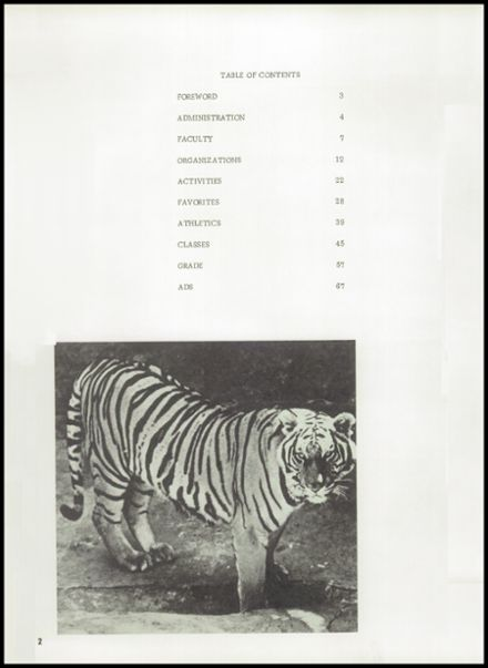 1972 Gage High School Yearbook Page 6