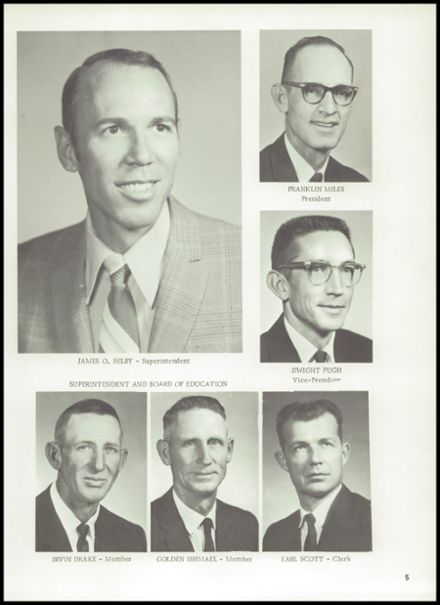 1972 Gage High School Yearbook Page 9