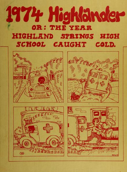 1974 Highland Springs High School Yearbook Cover