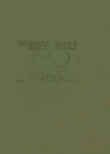 1920 Marlow High School Yearbook Cover