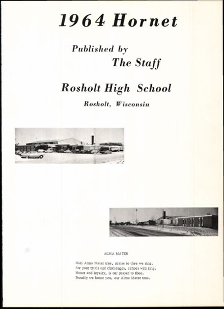 1964 Rosholt High School Yearbook Page 5