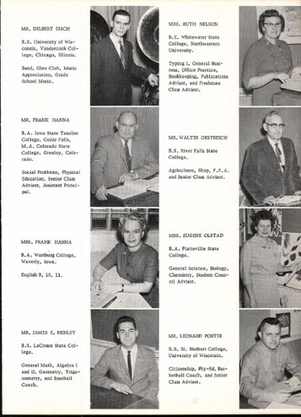 1964 Rosholt High School Yearbook Page 9