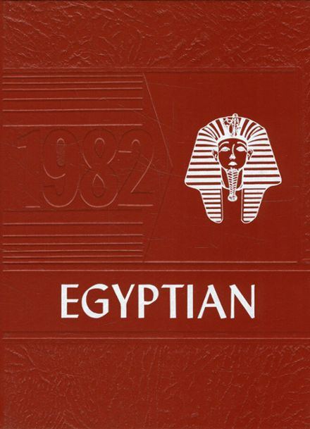 1982 Egyptian High School Yearbook Cover