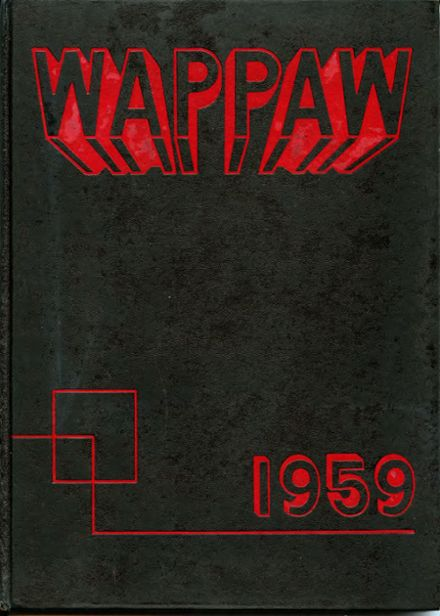 1959 Paw Paw High School Yearbook Cover