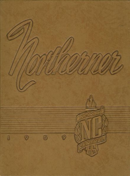 1959 North Central High School Yearbook Cover