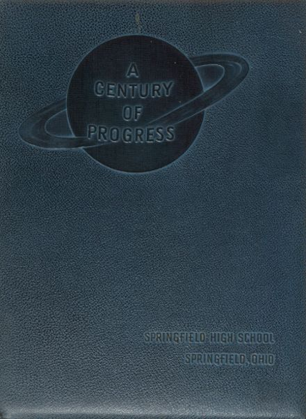 1950 Springfield High School Yearbook Cover