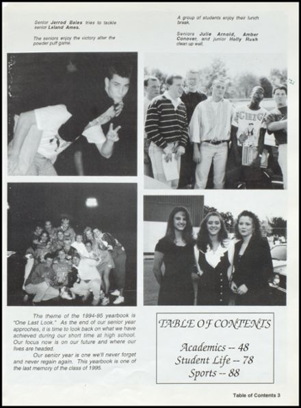 1995 Mitchell High School Yearbook Page 7
