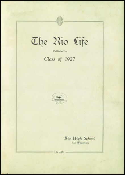 1927 Rio High School Yearbook Page 3