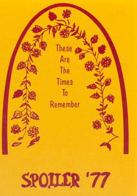 1977 Grafton High School Yearbook Cover