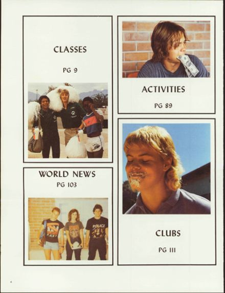 1984 Amphitheater High School Yearbook Page 8