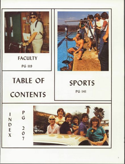 1984 Amphitheater High School Yearbook Page 9