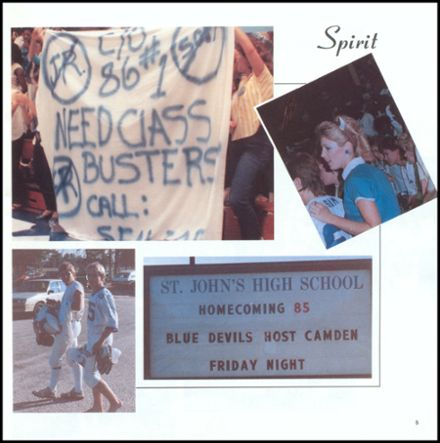 1986 St. John's High School Yearbook Page 9