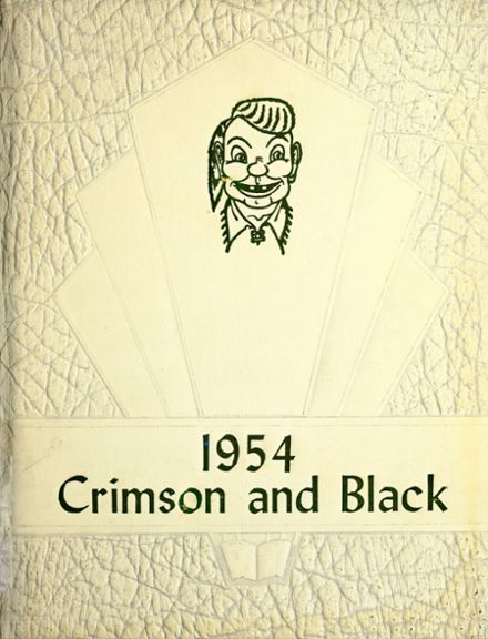 1954 Mcloughlin Union High School Yearbook Cover