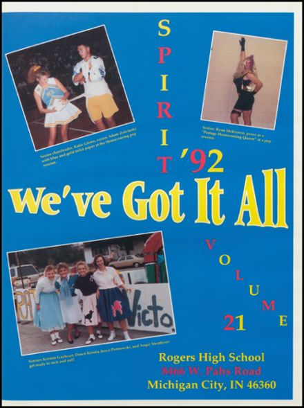 1992 Rogers High School Yearbook Page 5