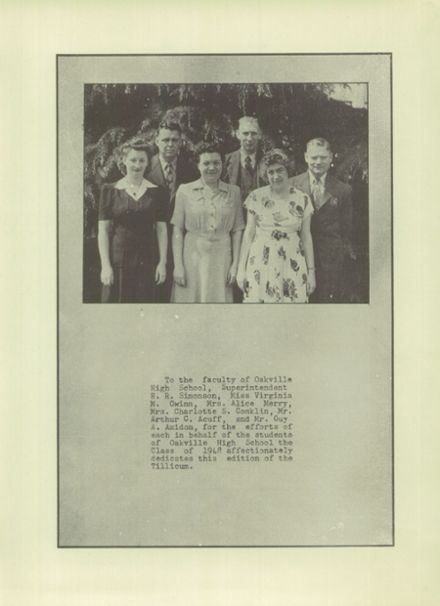 1947 Oakville High School Yearbook Page 7