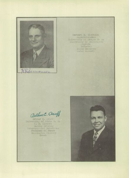 1947 Oakville High School Yearbook Page 9