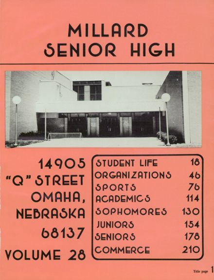 1978 Millard High School Yearbook Page 5