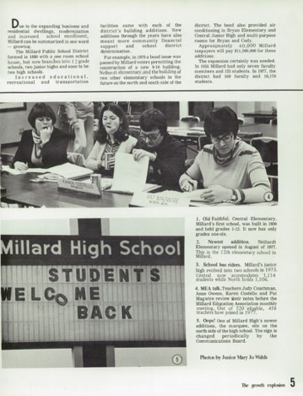 1978 Millard High School Yearbook Page 9