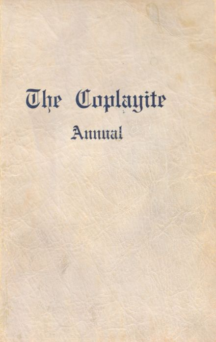 1923 Coplay High School Yearbook Cover