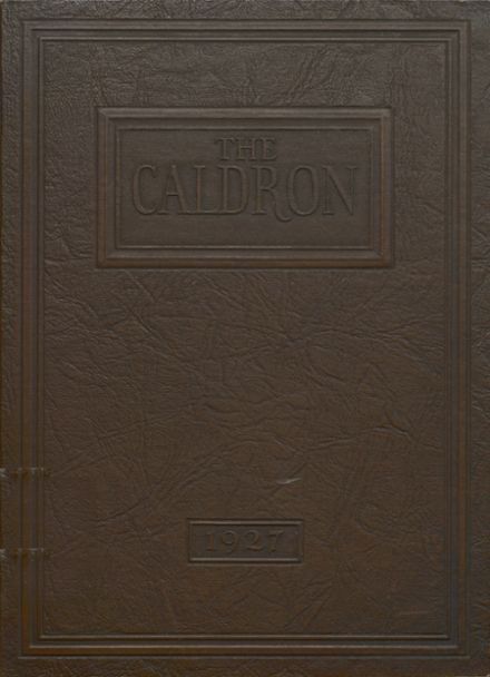 1927 Ford City High School Yearbook Cover