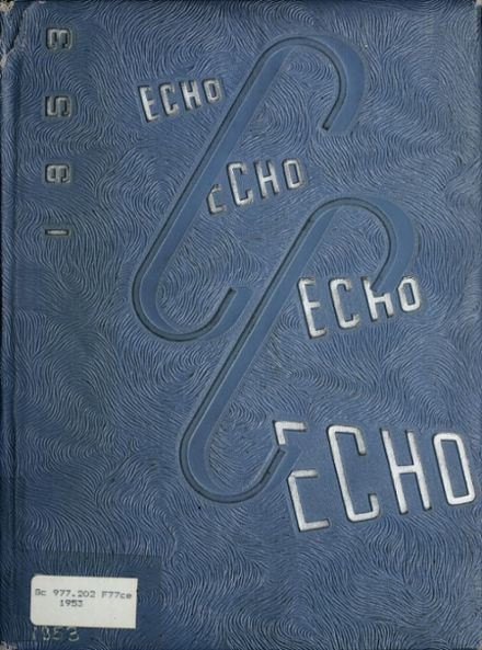 1953 Central Catholic High School Yearbook Cover