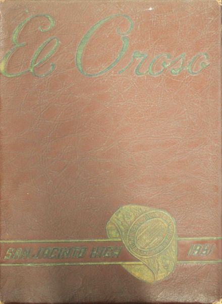 1951 San Jacinto High School Yearbook Cover