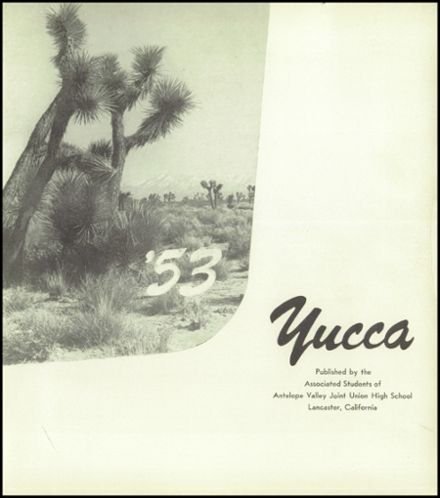1953 Antelope Valley High School Yearbook Page 5