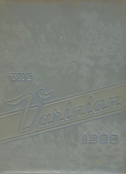 1952 Varina High School Yearbook Cover